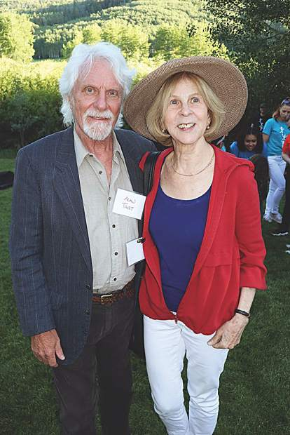 Alan Trist and Elaine Pagels at the Celebrate the Beat performance.