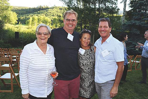 Margie Barclay with her son, Rob Ittner, and Cherie Silvera and Martin Davis.