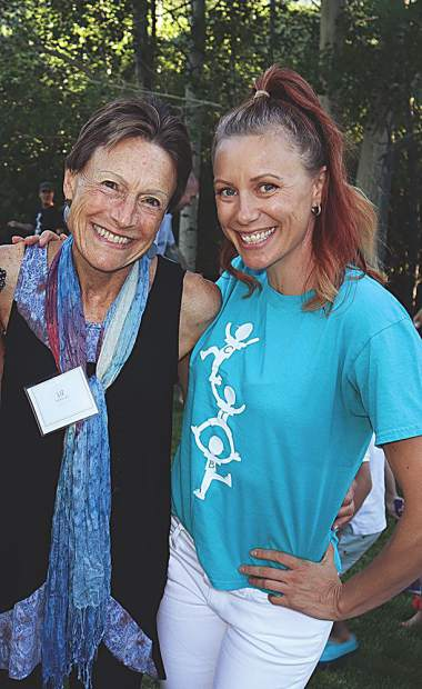 Celebrate the Beat board member Liz Barclay with Kris Ashley who runs their program in Vail.