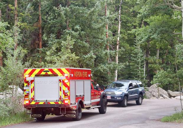 Crews, including a swift-water rescue team from the Aspen Fire Department, were called to the Devils Punchbowl area on the Roaring Fork River when a woman was swept down river Wednesday afternoon. The area is about 9 miles east of Aspen.