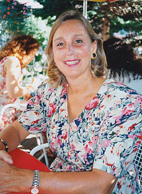 Karin in 1974 when she arrived in Aspen and this year before she passed away.
