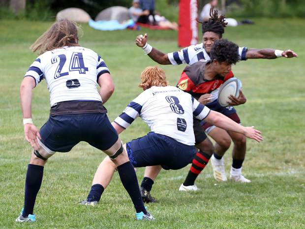 The Gentlemen of Aspen Rugby Club hosts Vail on Saturday, July 6, 2019, at Rio Grande Park in Aspen. (Photo by Austin Colbert/The Aspen Times)