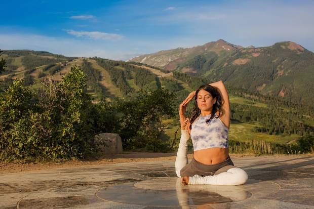 Check event info at YOTMfestival.com for places and times as Yoga on the Mountain sessions are spread across Snowmass Village.