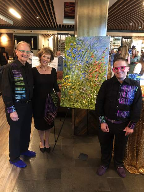 Hal, Julie and Jeff Hanson at Challenge Aspen's fundraising gala on Sunday, July 28.