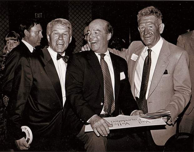 """Bill """"Sarge"""" Brown, right, worked with Pepi Gramshammer, left, and Vail founder Pete Seibert, middle, to bring the 1989 World Alpine Skiing Championships to Vail and Beaver Creek."""