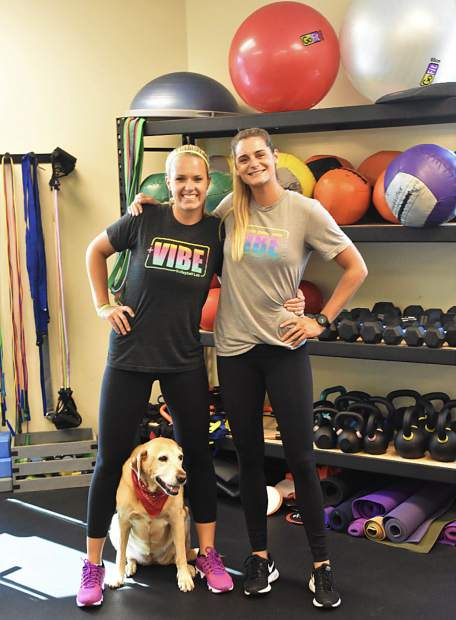 Former Glenwood Springs volleyball standout Leah Hinkey (right) with friend and business partnet Nikki Jagd (left) at Vibe Volleyball in El Segundo, California.