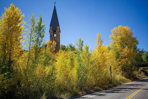 Aspen Chapel on a fall afternoon.
