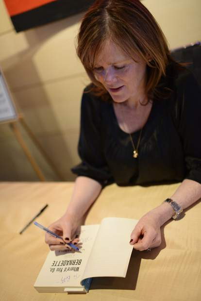 Maria Semple at a Winter Words event for
