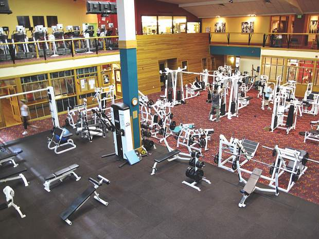 Inside the gym at the Aspen Club, in 2009.
