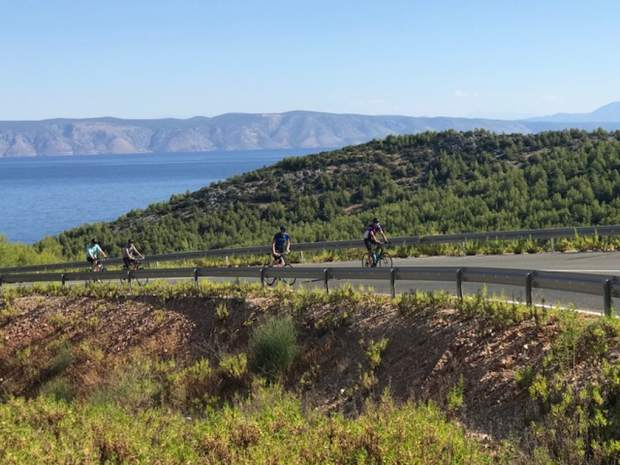 Former professional cyclist Scott Mercier took his family to Croatia over the summer.
