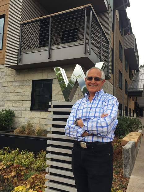 John Sarrpa, co-developer of the W Aspen hotel and the Sky Residences at the W Aspen, in front of the new property, which is slated to open on Thursday.