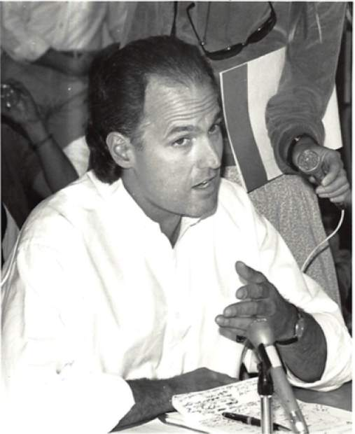 John Sarpa in 1990 during the Ritz-Carlton Hotel campaign.