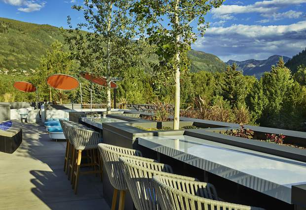An image ot the WET Deck on top of the new W Aspen hotel. The 8,000-square-foot rootop will be open to the public.