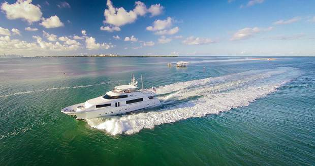 The AvYachts 34-meter Westport super yacht, sailing under the name