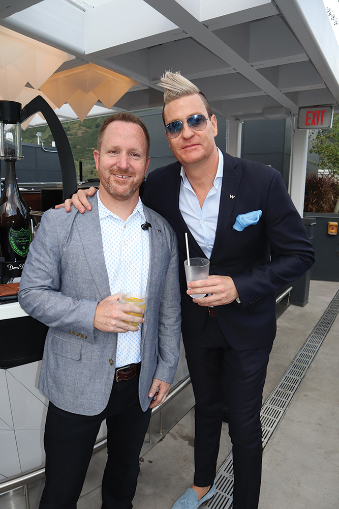 Justin Todd, Director of Sales & Marketing for The St. Regis Aspen, with Gordon Brink, The Luxury Collection's Director of Luxury Hotels, California and Aspen.