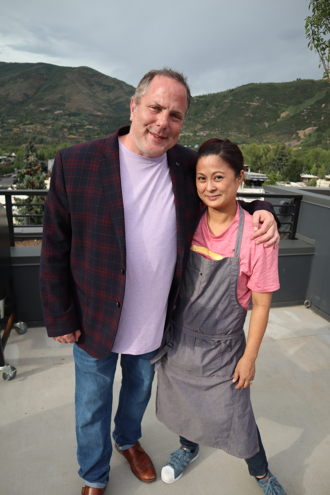 Scott Cochran, W Aspen Director of Operations, and his wife, Jackie Siao, W Aspen Executive Chef.