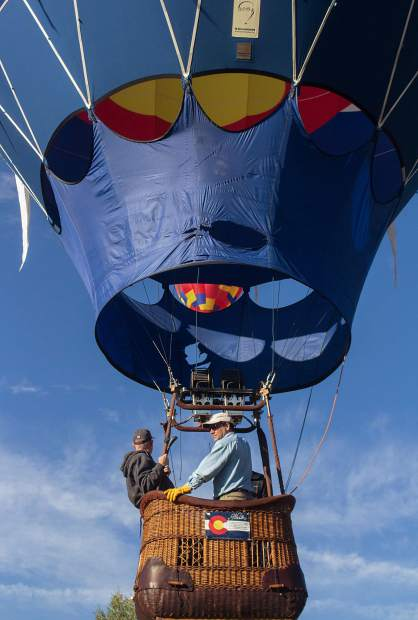 Patrick Carter flies the Carter family balloon on Sept. 8 during the 44th annual Snowmass Balloon Festival.