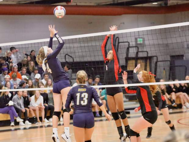 Aspen High School volleyball plays against Roaring Fork on Thursday, Sept. 12, 2019, inside the AHS gymnasium.