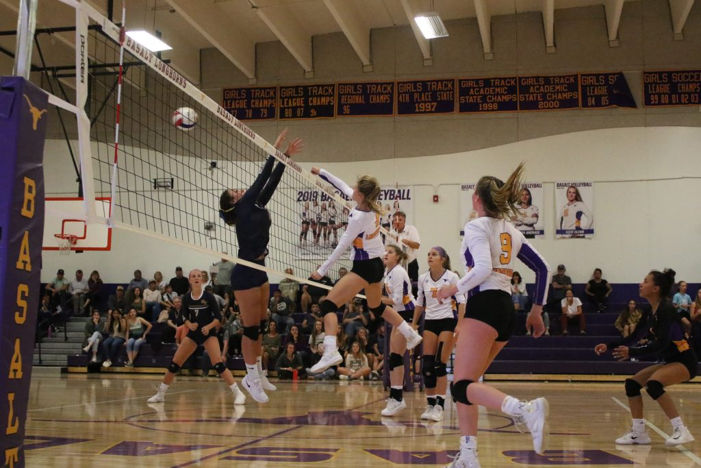 Basalt High School volleyball hosts Roaring Fork on Tuesday, Sept. 24, 2019, in Basalt.