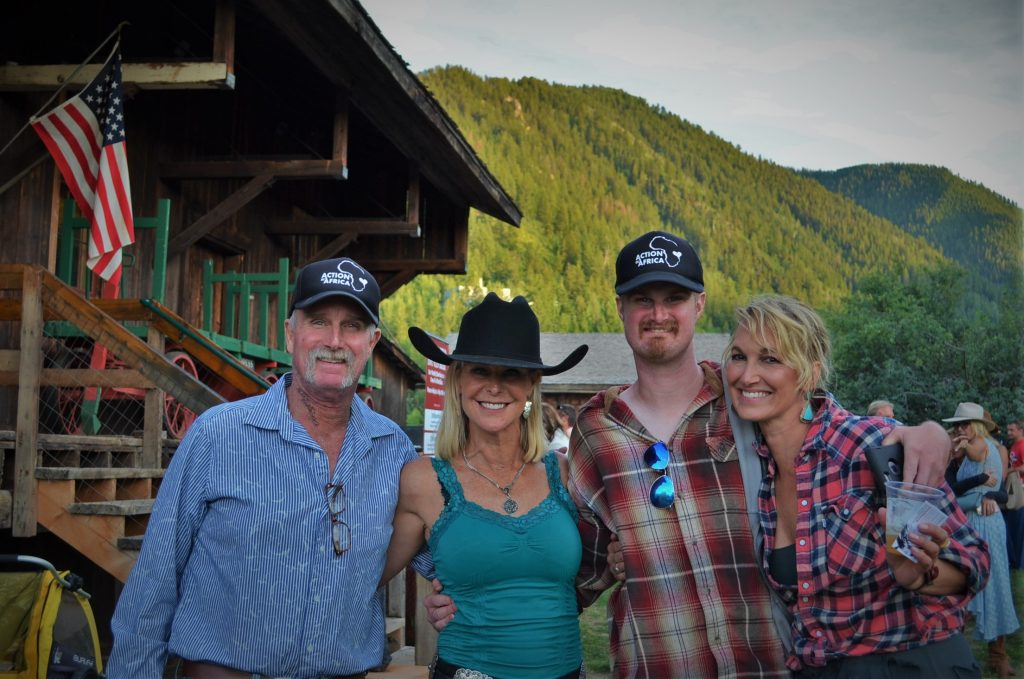 Bob Nininger, Smiling Goat Ranch co-owner Sheryl Barto, Trevor Nininger and Linda Chadbourne.