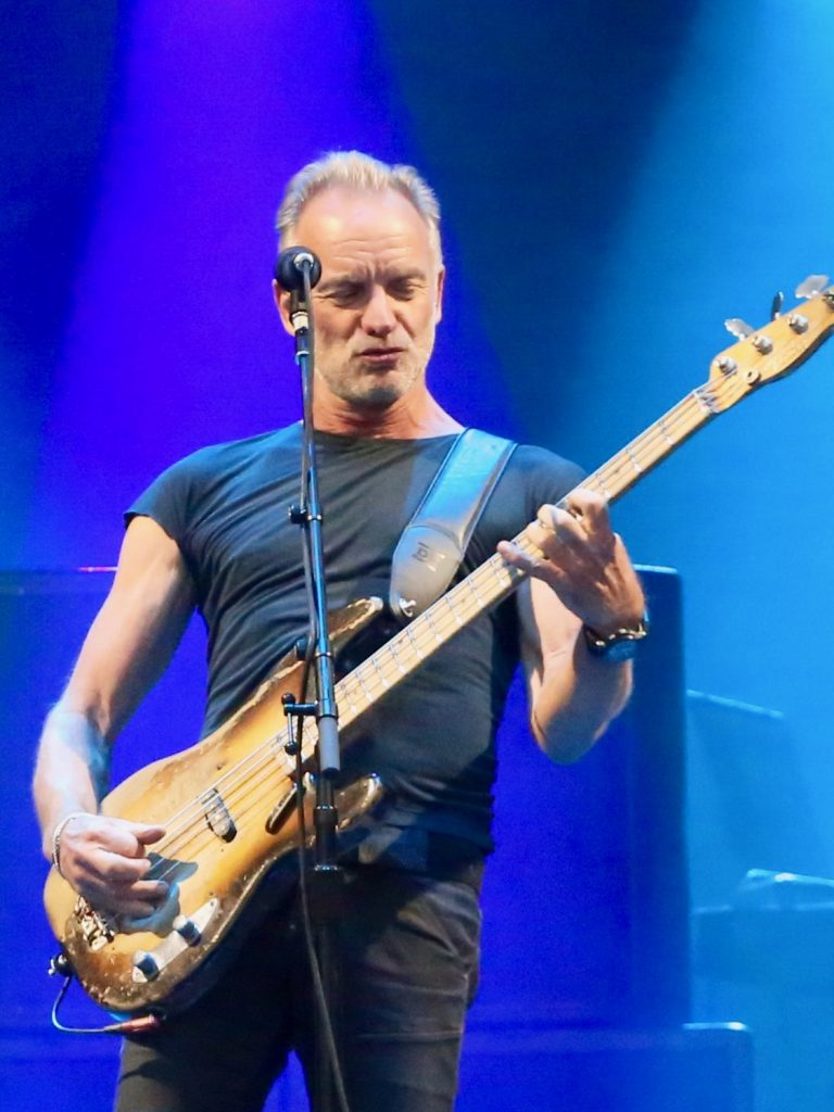 Sting performs on Sunday, Sept. 1, 2019, at the Jazz Aspen Snowmass Labor Day Experience in Snowmass Village. (Photo by Austin Colbert/The Aspen Times)