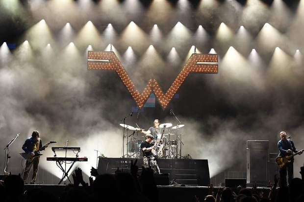 Weezer takes to the stage Friday night at the JAS Labor Day Experience in Snowmass Village.