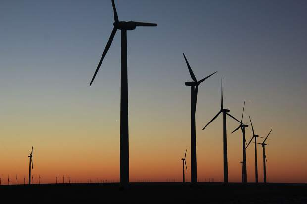Colorado Green, the state's first major wind farm, located south of Lamar in southeastern Colorado.