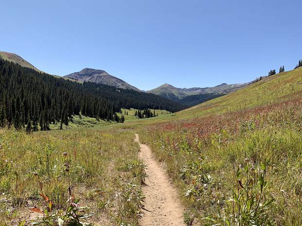 There was nothing but blue skies and big views as we made our way from the Pass to Crested Butte.