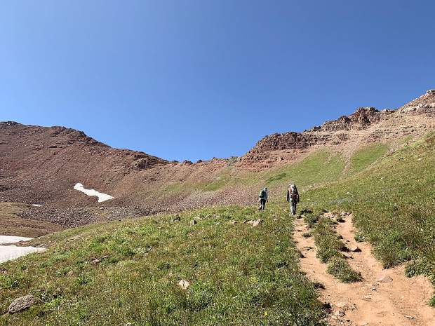 Making the approach to West Maroon Pass.