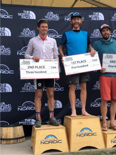 The Grand Traverse podium.