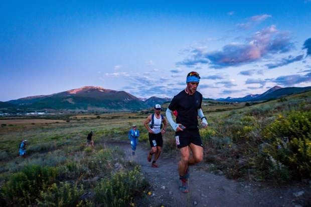 Racers take part in the Grand Traverse foot race on Saturday, Aug. 31, 2019, which goes from Crested Butte to Aspen. (Photo by Xavier Fane/courtesy)