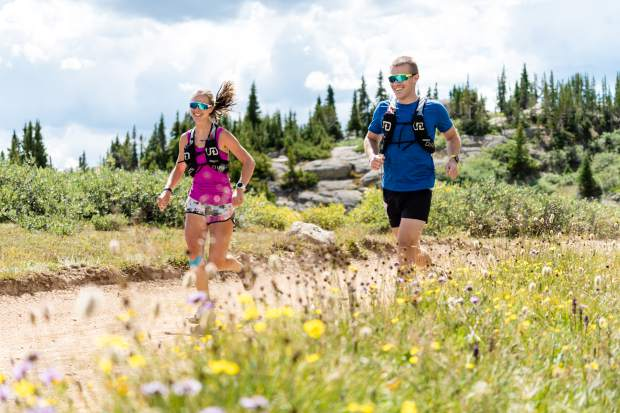 Racers take part in the Grand Traverse foot race on Saturday, Aug. 31, 2019, which goes from Crested Butte to Aspen. (Photo by Petar Dopchev/courtesy)