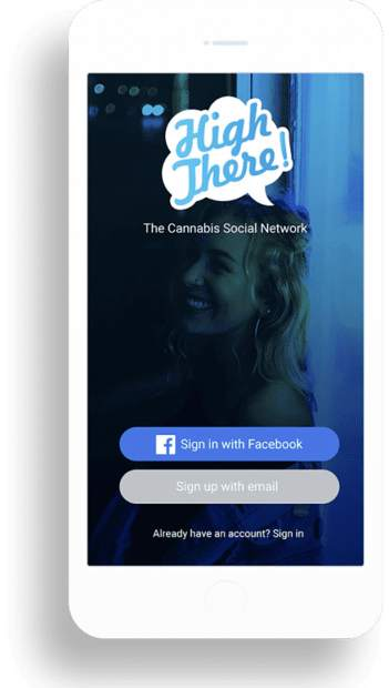 High There! is a social and dating app for cannabis enthusiasts.