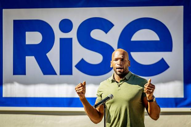 Eugene Monroe at the ribbon cutting opening of GTI's Rise dispensary in Deerfield Beach — the first of more than 30 dispensaries Green Thumb Industries has slated to open in Florida, Nevada, Ohio, Pennsylvania, Massachusetts and Maryland.