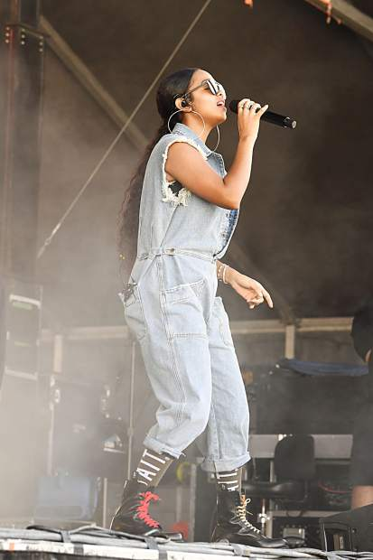H.E.R. plays at the JAS Aspen Labor Day Experience in Snowmass on Sept. 1.