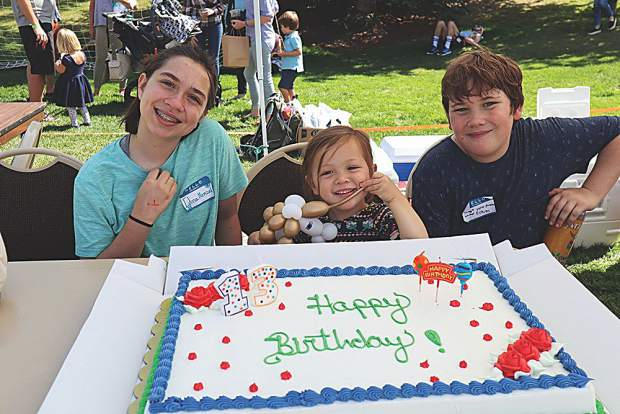 A triple birthday on Saturday, Sept. 7 - Clare Williams (13), Sylvie Keptura (3) and Evan Williams (13).
