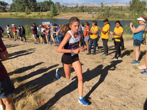 Basalt junior Sierra Bower competes at the Fruita invitational on Saturday, Sept. 21, 2019.