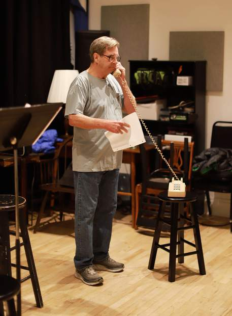 Beau Bridges in rehearsal for