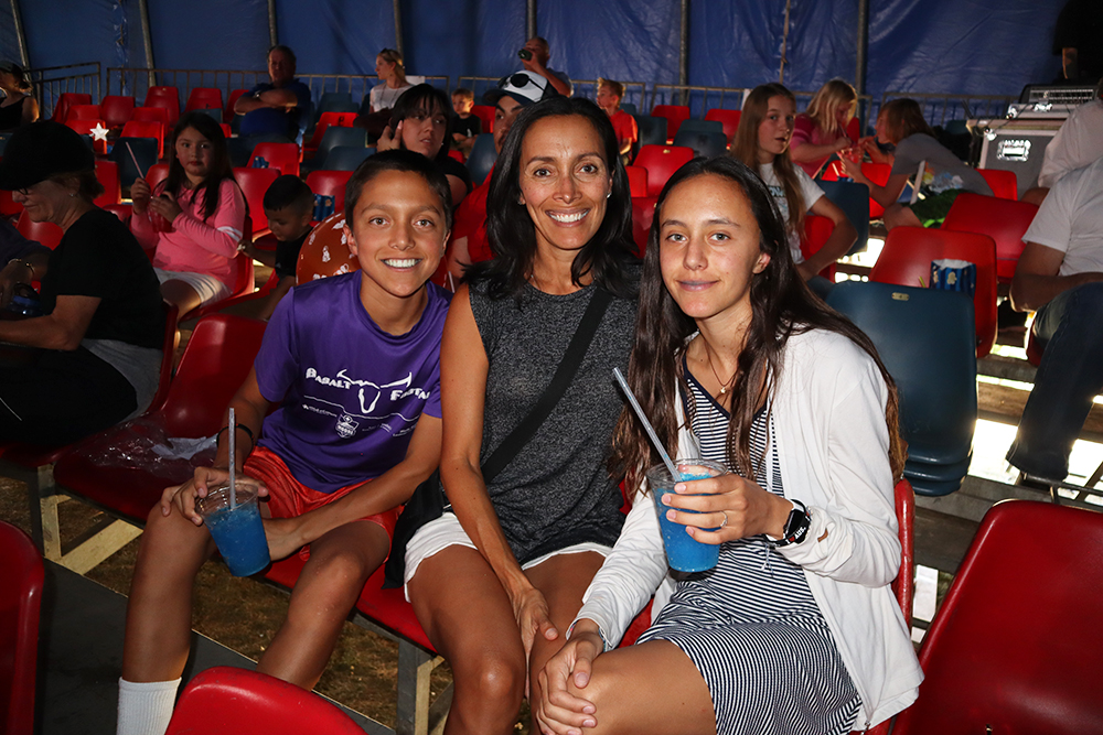 Zealand, Diana and Ava Lane at the circus in Snowmass this summer.