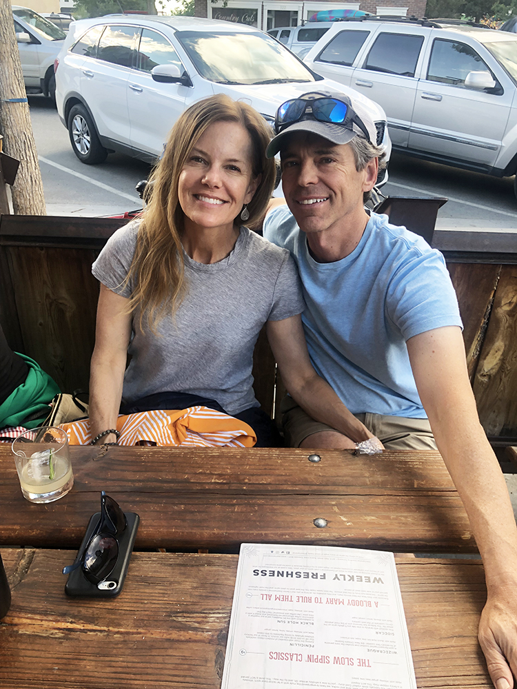 Kathy Kroger and Ray McNutt on a summer getaway to Buena Vista.
