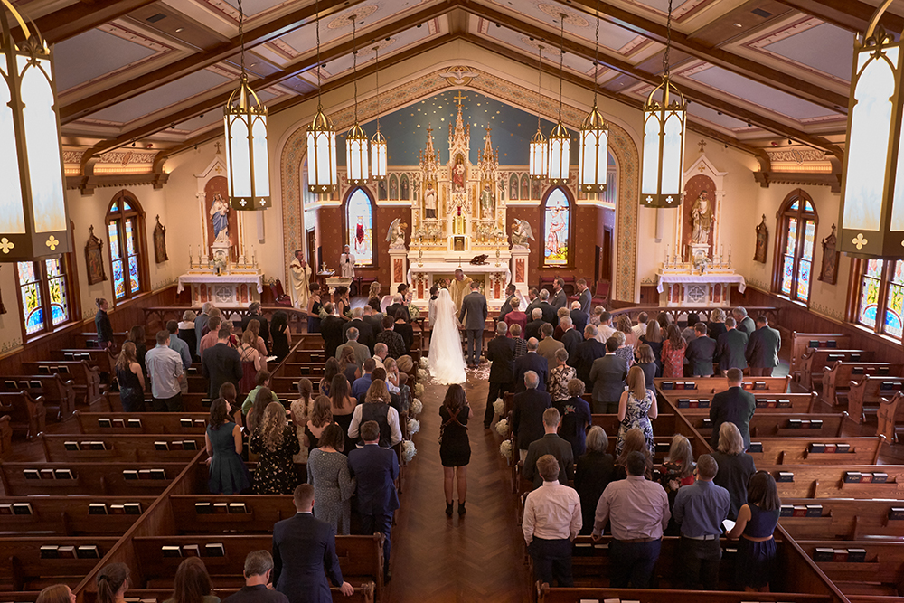 The recently renovated St. Mary's Church was the setting for the ceremony.