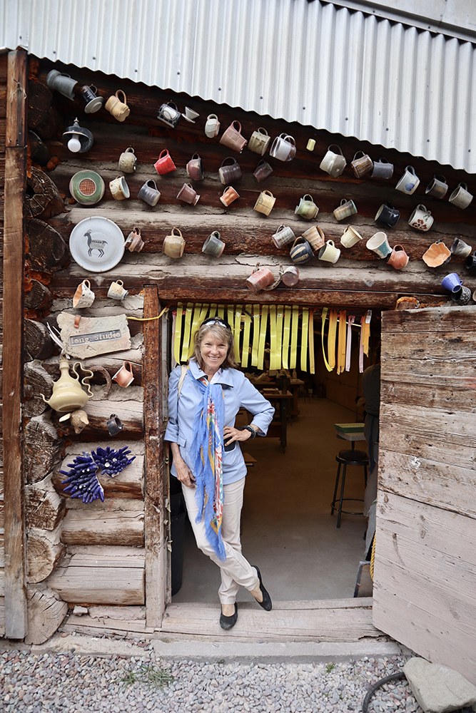 Marian Leibold on a studio tour at Anderson Ranch in August.