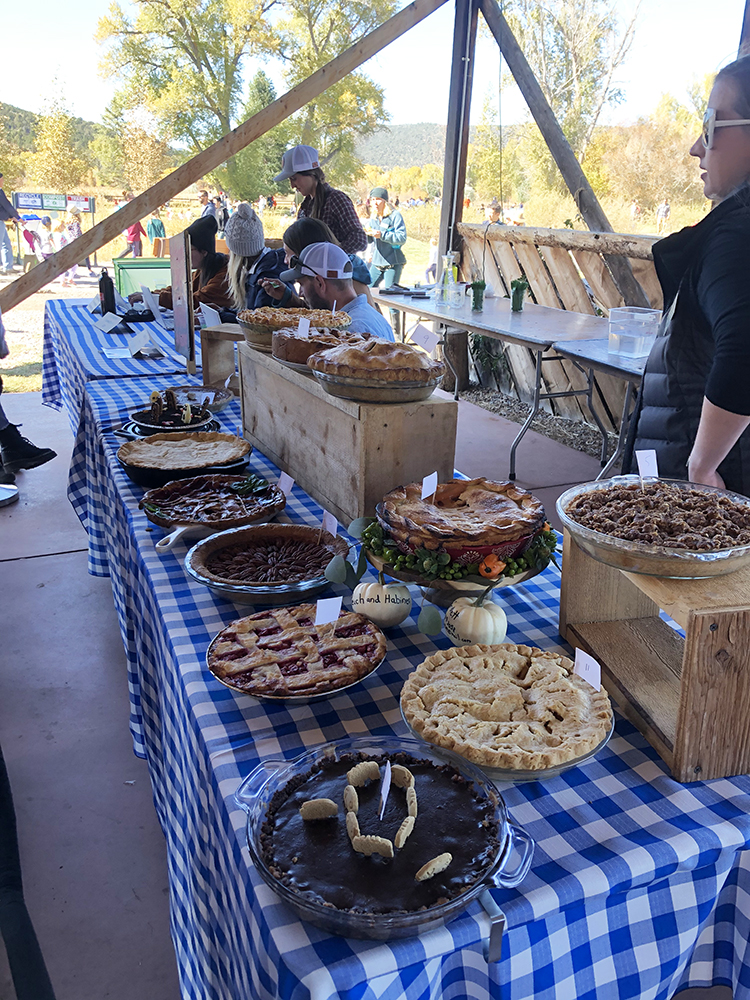 Home baked goods in the pie contest.