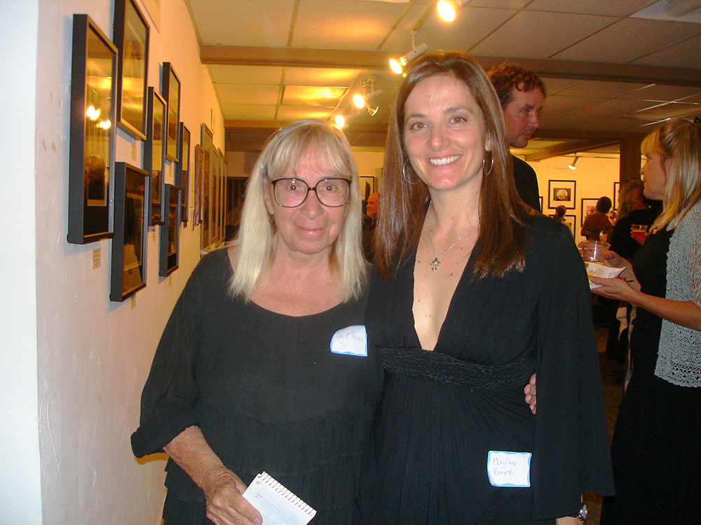 Photographers Mary Eshbaugh Hayes and MarySue Bonetti at an Aspen Chapel art show. Circa 2008.