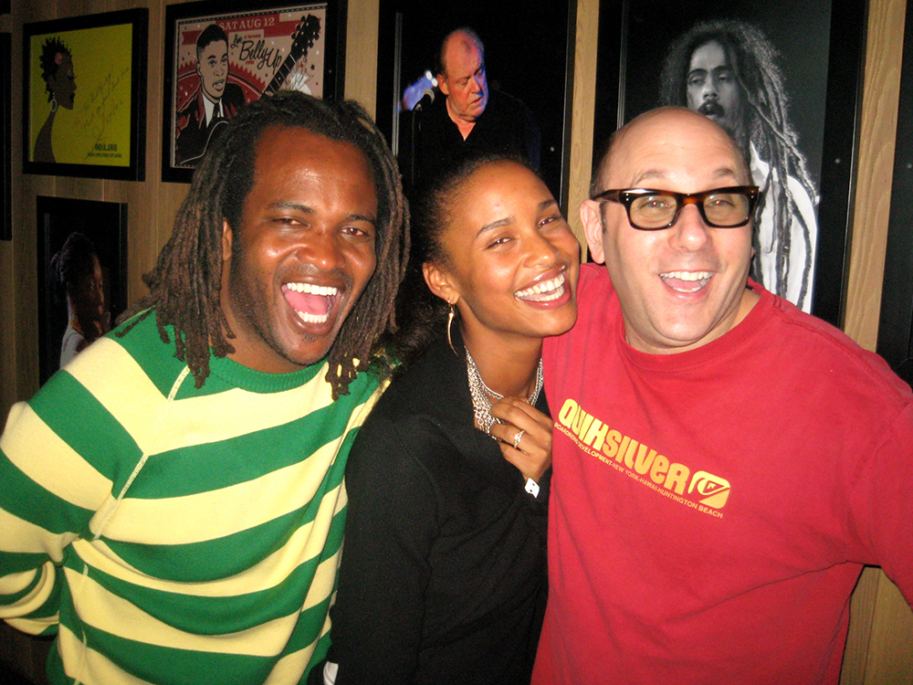 Sal Maskela, Zoe Saldana and Willie Garson at the Aspen Celebrity Downhill benefiting Aspen Youth Experience a.k.a A Grassroots Aspen Experience. Circa 2008.