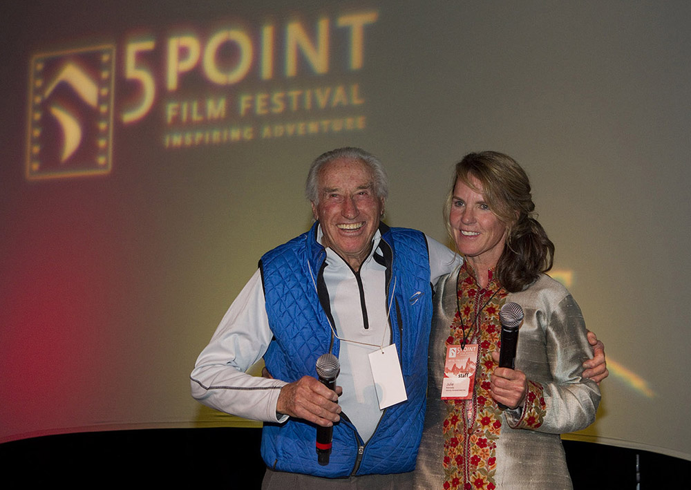 Klaus Obermeyer and 5Point film festival founder Julie Kennedy. Circa 2010.