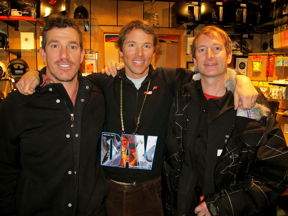 Former 24 Hours of Aspen racers Matt Ross, Chris Davenport and Tyler Williams. Circa 2011.