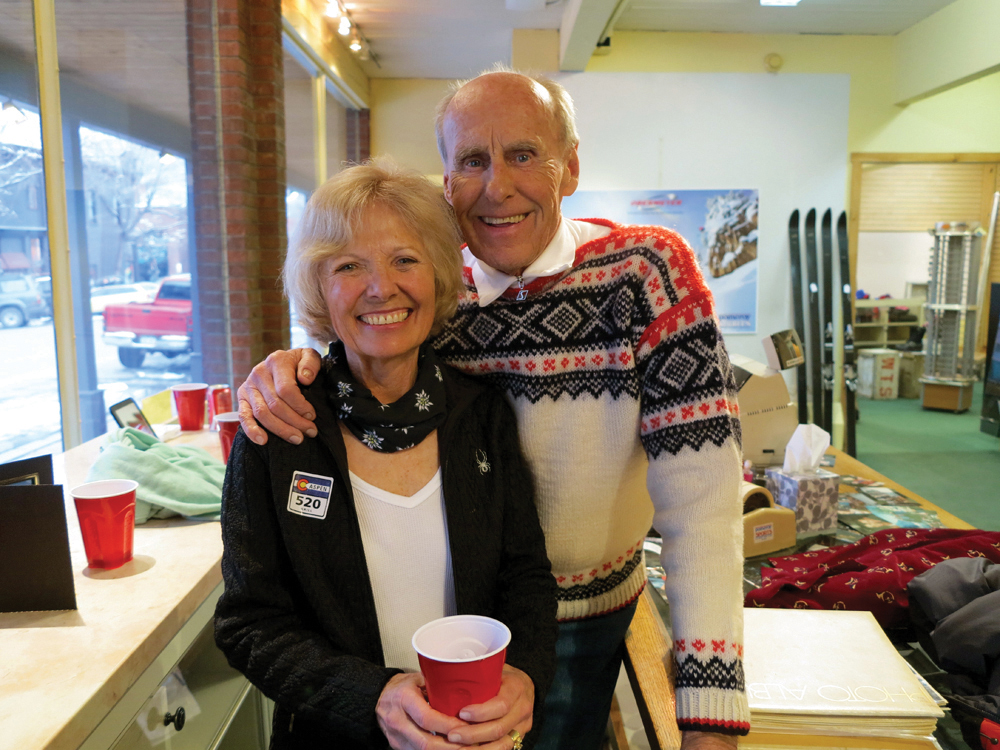 Janny and Tom Anderson at Pomeroy Sports' closing party. Circa 2013.