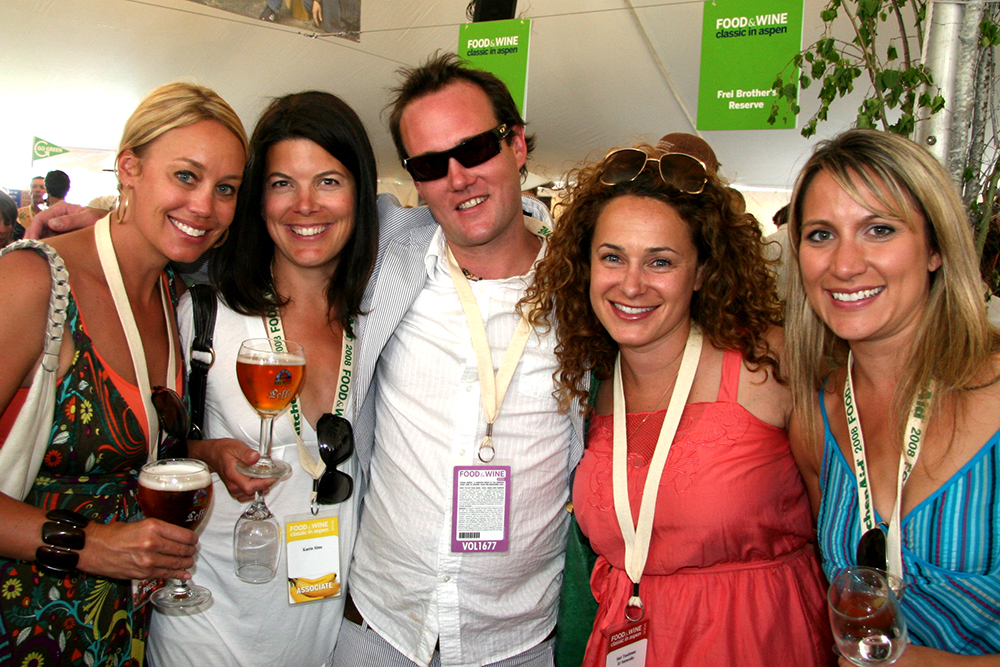 Fab fivesome at Food & Wine: Erin Lentz, Karrie Sims, Troy Hooper, Sari Tuschman and Angela Yosten. Circa 2008.