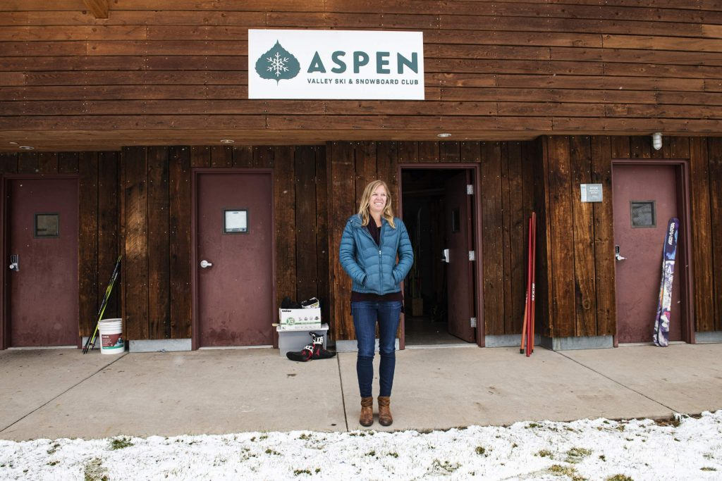 Erin Young has joined the Aspen Valley Ski and Snowboard Club as an athletic trainer, made possible by Aspen Valley Hospital. (Kelsey Brunner/The Aspen Times)
